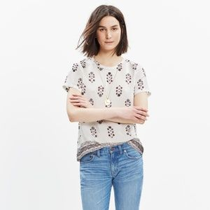 Madewell Silk floral top - size S